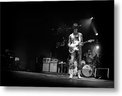 Jeff Beck On Guitar 5 Metal Print by The  Vault - Jennifer Rondinelli Reilly