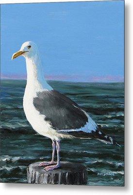 Jeff The Seagull Metal Print by Jack Skinner