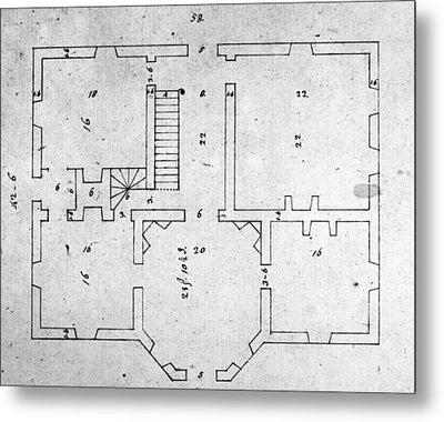 Jefferson: Floor Plan Metal Print by Granger