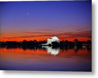 Jefferson Memorial At Dawn Metal Print by Metro DC Photography