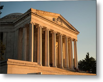 Jefferson Memorial Sunset Metal Print by Steve Gadomski