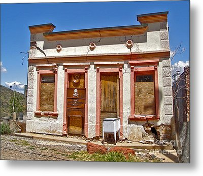 Jerome Arizona - Miner Shack Metal Print by Gregory Dyer
