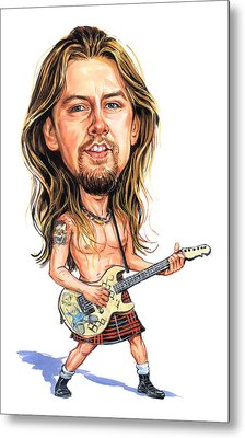 Jerry Cantrell Metal Print by Art