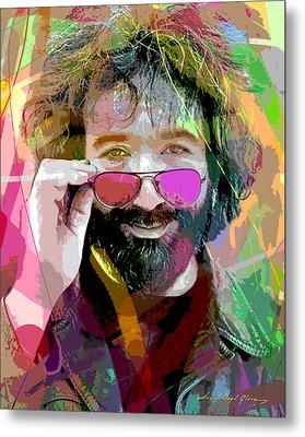 Jerry Garcia Art Metal Print by David Lloyd Glover