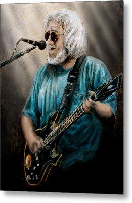 Jerry Garcia By Edward Pollick Metal Print by Edward Pollick