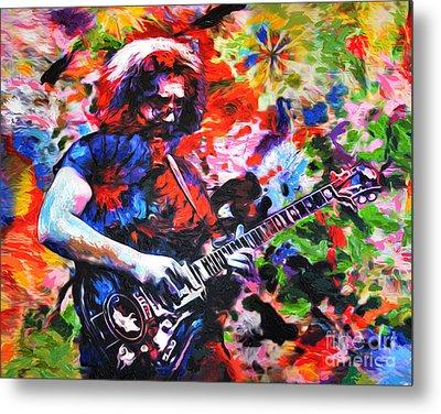 Jerry Garcia - Grateful Dead - Original Painting Print Metal Print by Ryan Rock Artist