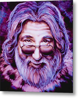 Jerry Garcia Metal Print by Mike Underwood