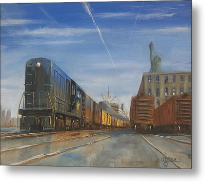 Jersey Central Lines Metal Print by Christopher Jenkins