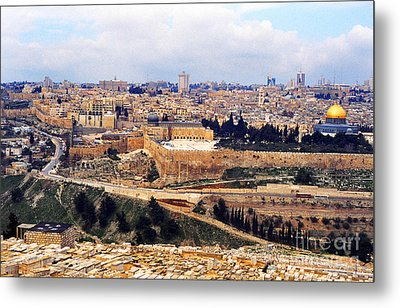 Jerusalem From Mount Olive Metal Print by Thomas R Fletcher