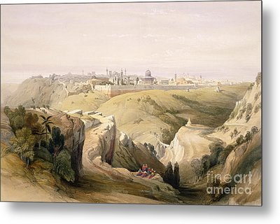 Jerusalem From The Mount Of Olives Metal Print by David Roberts