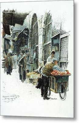 Jerusalem Street Metal Print by Graham Braddock