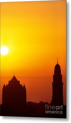 Jerusalem Sunrise Metal Print by Thomas R Fletcher