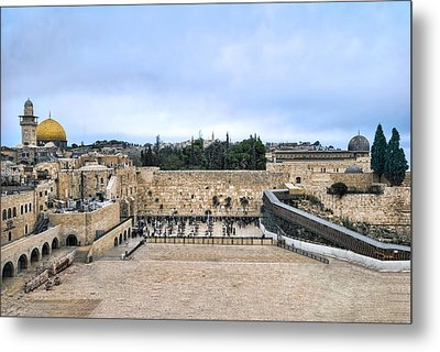 Jerusalem The Western Wall Metal Print by Ron Shoshani