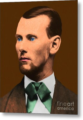 Jesse James 20130515 Metal Print by Wingsdomain Art and Photography