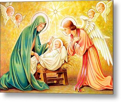 Jesus Birth Metal Print by Munir Alawi
