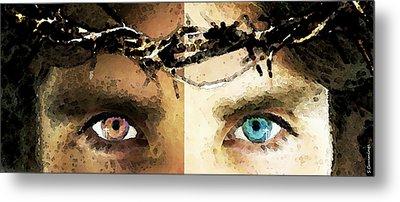 Jesus Christ - How Do You See Me Metal Print by Sharon Cummings