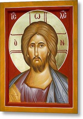 Jesus Christ Metal Print by Julia Bridget Hayes