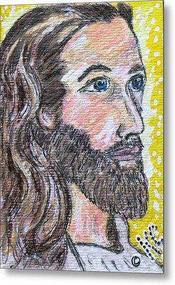 Jesus Christ Metal Print by Kathy Marrs Chandler