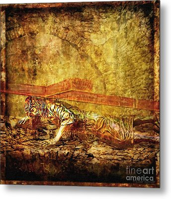 Jesus Falls Third Time Via Dolorosa 9 Metal Print by Lianne Schneider