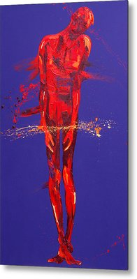 Jesus Is Condemned Station 1  Metal Print by Penny Warden