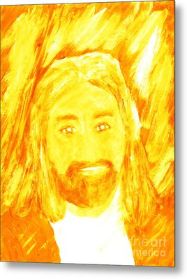 Jesus Is The Christ The Holy Messiah 1 Metal Print by Richard W Linford