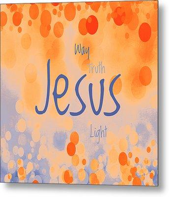 Jesus Light 2 Metal Print by Angelina Vick