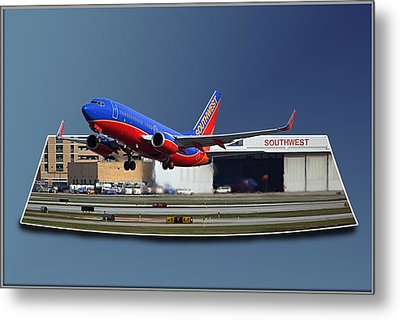 Jet Chicago Airplanes 12 Out Of Bounds Metal Print by Thomas Woolworth