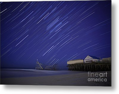 Jet Star Trails Metal Print by Amanda Stevens
