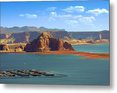 Jewel In The Desert - Lake Powell Metal Print by Christine Till