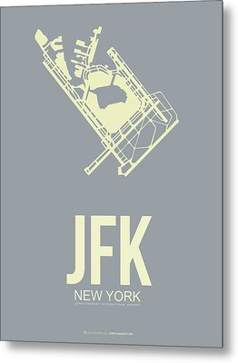 Jfk Airport Poster 1 Metal Print by Naxart Studio