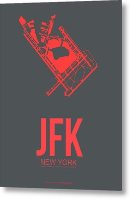 Jfk Airport Poster 2 Metal Print by Naxart Studio