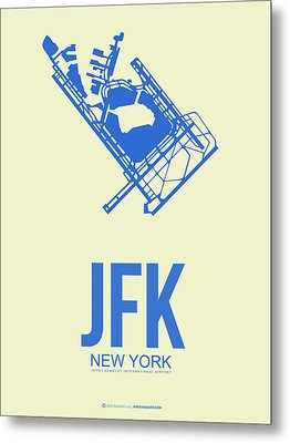Jfk Airport Poster 3 Metal Print by Naxart Studio