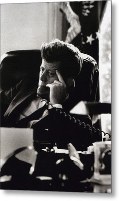 John F. Kennedy By Arthur Rickerby Metal Print by Retro Images Archive