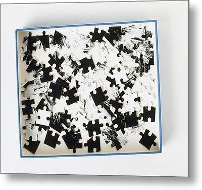 Jigsaw Puzzle Pieces Metal Print by Dorling Kindersley/uig