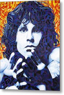 Jim Morrison Chuck Close Style Metal Print by Joshua Morton