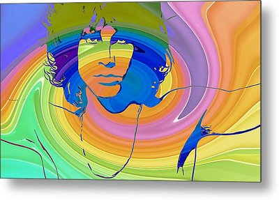 Jim Morrison Color Warp Metal Print by Dan Sproul