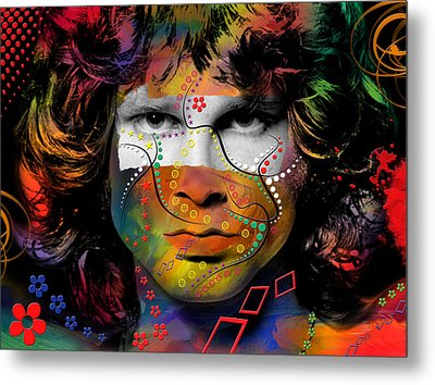 Jim Morrison Metal Print by Mark Ashkenazi
