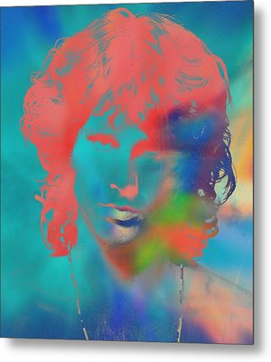 Jim Morrison Tie Dye Metal Print by Dan Sproul