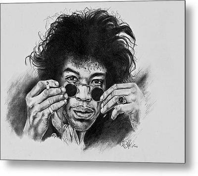 Jimi Hendrix Metal Print by Art Imago