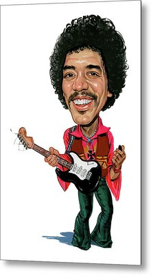 Jimi Hendrix Metal Print by Art