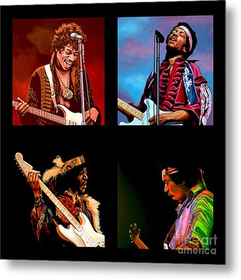 Jimi Hendrix Collection Metal Print by Paul Meijering