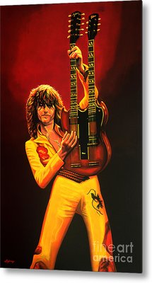 Jimmy Page Painting Metal Print by Paul Meijering