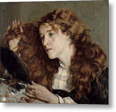 Jo The Beautiful Irish Girl Metal Print by Gustave Courbet