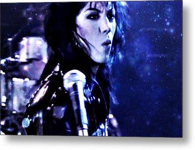 Joan Jett Metal Print by Cyryn Fyrcyd