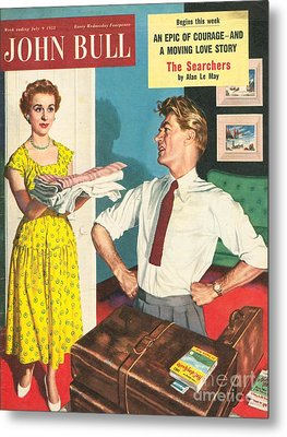 John Bull 1950s Uk Holidays Packing Metal Print by The Advertising Archives