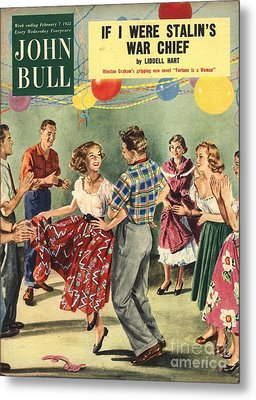 John Bull 1950s Uk  Line Country Square Metal Print by The Advertising Archives
