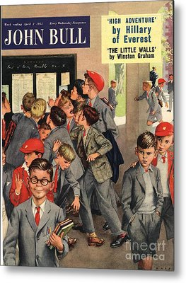 John Bull 1955 1950s Uk Schools Swots Metal Print by The Advertising Archives
