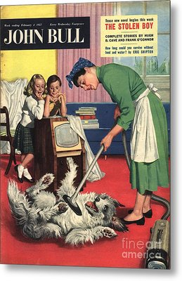John Bull 1957 1950s Uk Dogs Cleaning Metal Print by The Advertising Archives
