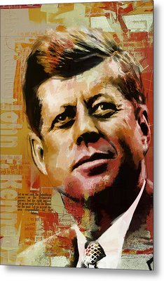 John F. Kennedy Metal Print by Corporate Art Task Force