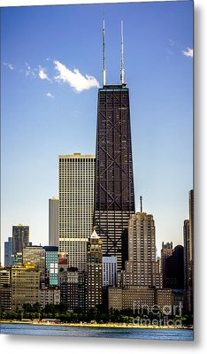 John Hancock Center Building In Chicago Metal Print by Paul Velgos